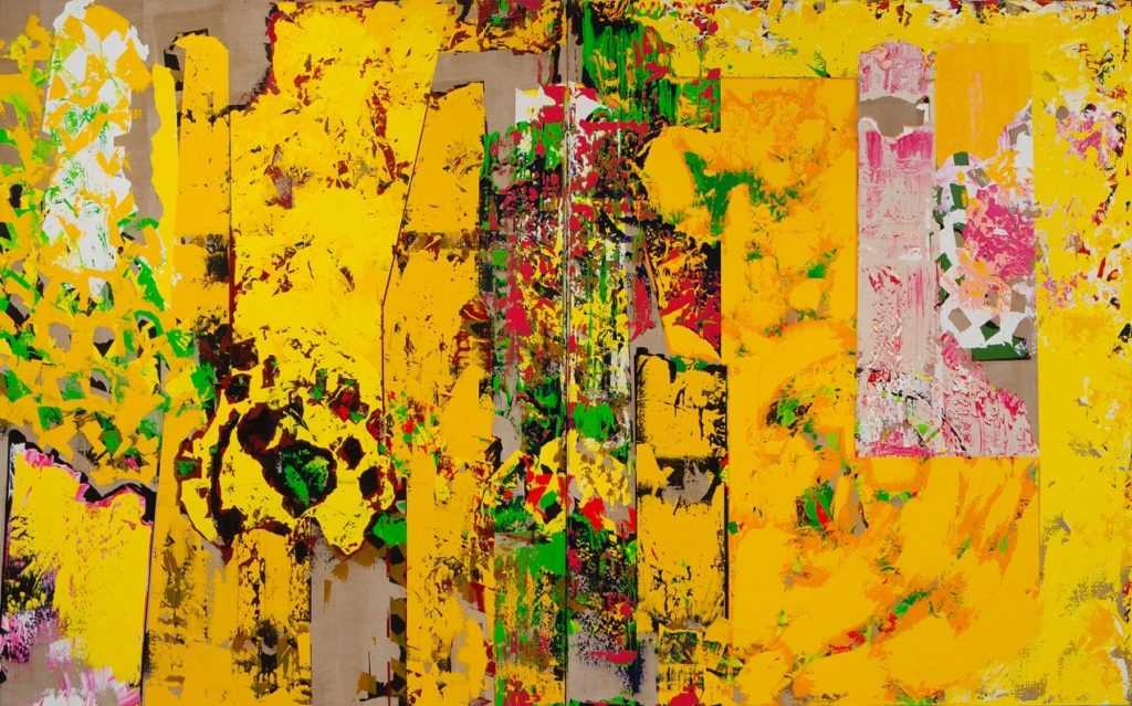 "C. Michael Norton ""What A Wallop"" (diptych, 2005-2008, 90x144, acrylic on linen)"